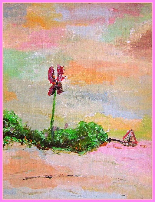 Sailboat and Big Flower