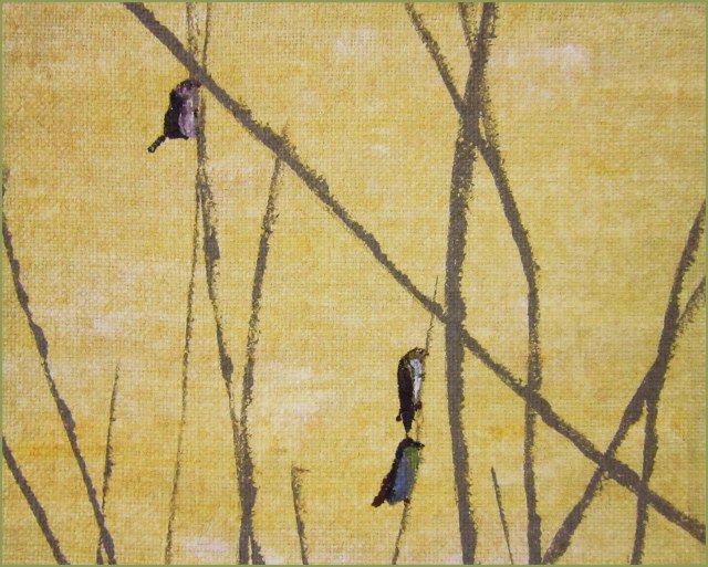 birds on twigs